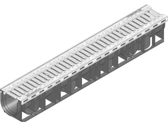 RECYFIX® PLUS 100, Kombiartikel, PKW-befahrbar, mit Stegrost