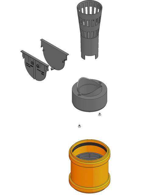 Produktbild Anschluss-Set für Rinne mit Stirnwand (inkl. Anleitung)