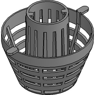 FASERFIX® KS 150, Schmutzfangeimer Kunststoff