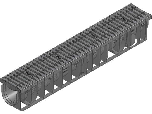 RECYFIX® PRO 100 Kombiartikel, Klasse C 250, FIBRETEC Stegrost