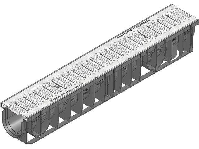 RECYFIX® PRO 100 Kombiartikel, Klasse C 250, Doppelstegrost