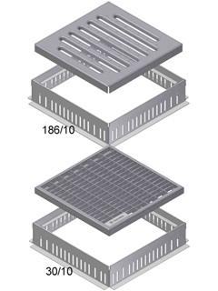 Produktbild Gully-Aufsatz Typ 1 mit Gitterrost MW 30/10
