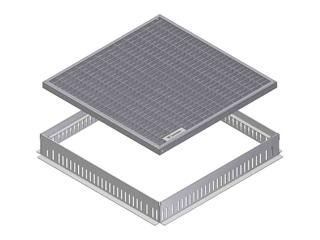 Produktbild Gully-Aufsatz Typ 2 mit Gitterrost MW 30/10