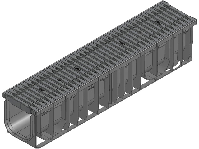 RECYFIX®PRO 150, Klasse C 250, FIBRETEC Design Stegrost