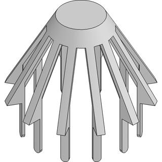 Laubfangkorb f. Schraubstutzen