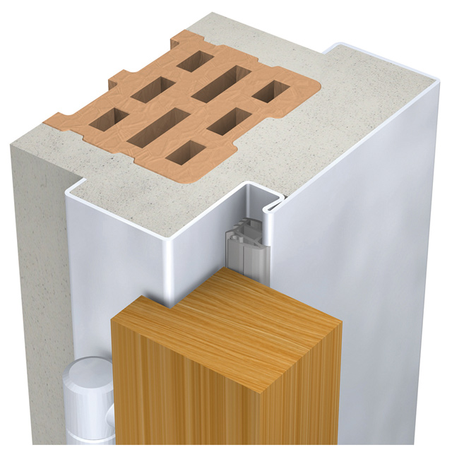Normzargen Profil 42  für Mauermontage - Profilbreite 160 - 295