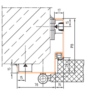 Produktbild Feuerschutz-Türelement UT431-EI230-C links