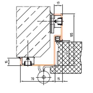 PRESTIGE Brandschutztür - Element – EI290-C5   1-flg. - Eckzarge
