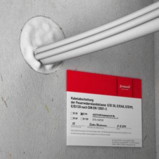 Produktbild Kennzeichnungsschild Aestuver™ Kabelschott Mx