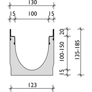 Produktbild FILCOTEN tec V NW 100 Nr. 5-0, mit glatter Seitenwand