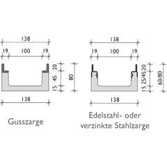 002        BG-FILCOTEN pro mini mit Zarge, Nennweite 100