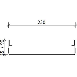 Produktbild BF-FA Fassadenrinne V RB 250, fixe Bauhöhe