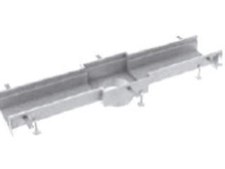 Rinnenelemente mit Ablaufstutzen (OD 200 mm) mittig