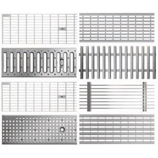 Roste für Profiline Baubreite 130 - Edelstahl
