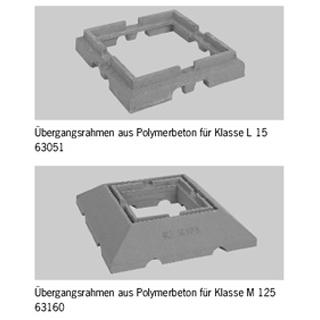 Produktbild Übergangsrahmen aus Polymerbeton, mit Sickeröffnungen