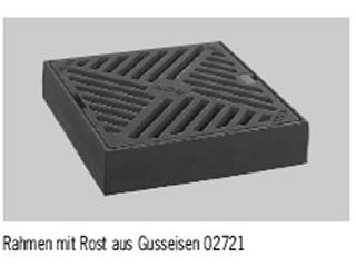 Produktbild Rahmen mit Rost aus Gusseisen, 300 x 300 mm