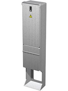 Freiluftschrank für bauseitige Druckleitung DN 50