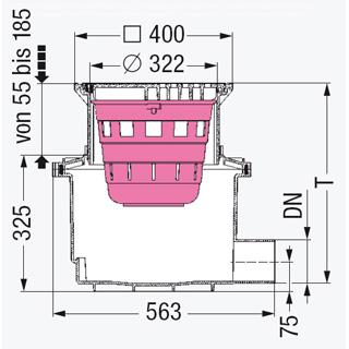 Hofablauf System 400 ohne GV, mit Schlammeimer