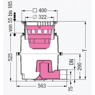 Hofablauf System 400 mit GV und Schlammeimer