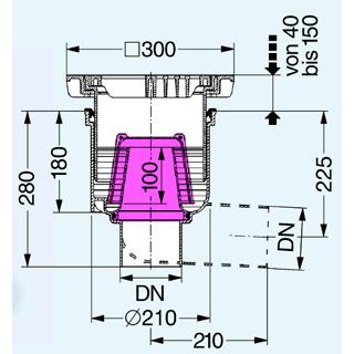 Hofablauf System 200 mit Geruchverschluss