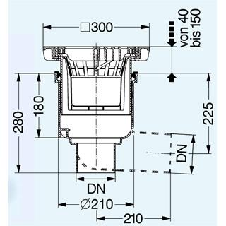 Hofablauf System 200 mit Schlammeimer ohne GV