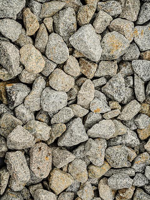 Bruchsteine, anthrazit-weiß
