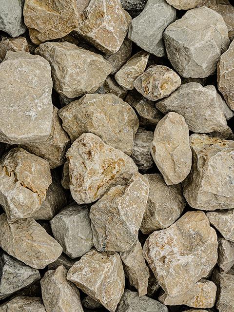 Bruchsteine, ockergelb