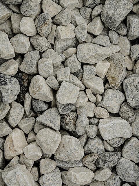Bruchsteine, naturweiß
