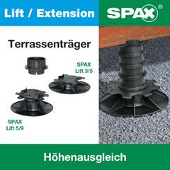 SPAX Lift Terrassenträger