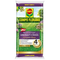 Compo Floranid Rasendünger gegen Unkraut und Moos 4 in 1