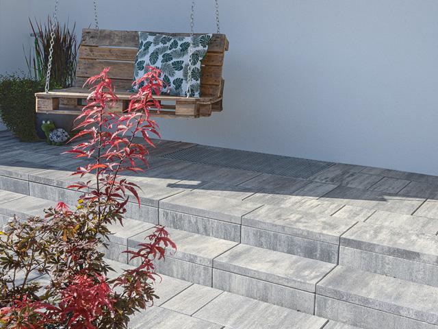 Produktbild Largo Sichtkantenplatte basalt-schattiert